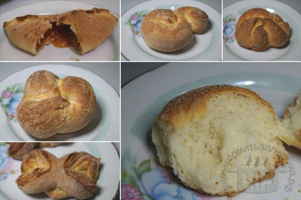 готовые булочки из дрожжевого теста