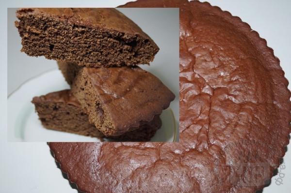 готовый пирог брауни
