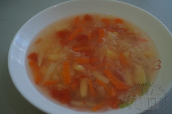 готовый рисовый супец