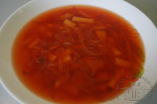 готовый суп свекольник