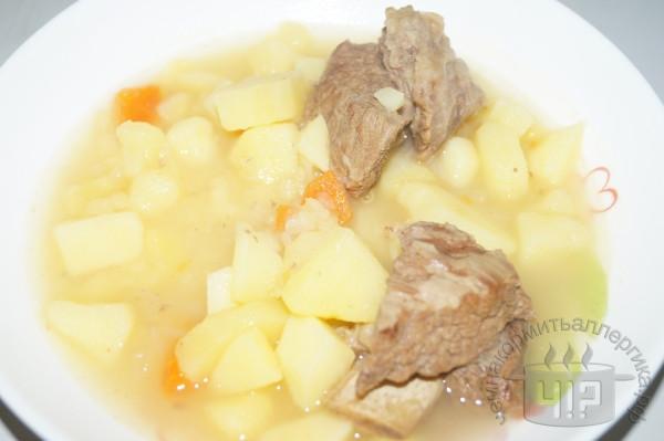 готовый тушеный картофель