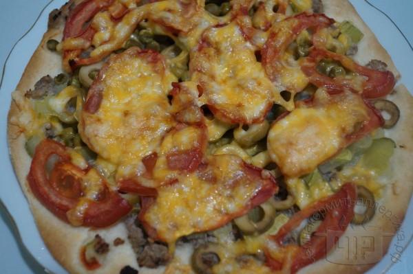 пицца на дрожжевом тесте без молока и яиц