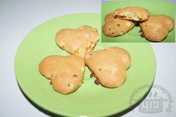 готовые печенья с курагой