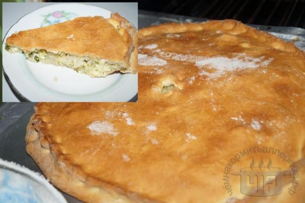 пирог с капустой и яйцом