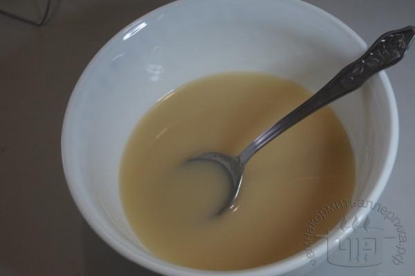 овсяное молоко с сахаром