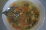 готовый суп с фасолью