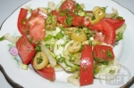 Салат летний с оливками