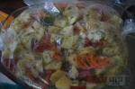 овощи помещаем в рукав