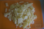 картофель нарезаем в брус