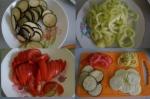порезанные овощи в сборе