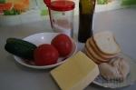с сухариками и сыром