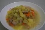 Свинина тушеная с картофелем и кабачками