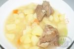 Картошка тушеная с говяжьими ребрами