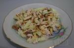 Салат с курицей и омлетом из овсяного молока