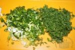 мелко резаная зелень