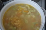 добавление макарон в супик