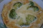 готовый омлет с брокколи