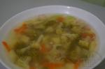 Суп с брокколи и зеленым горошком