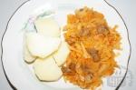 готовая тушеная говядина с капустой
