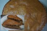 готовый пирог зебра