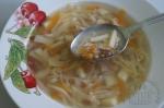 готовый чечевичный суп с капустой
