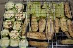 почти готовые овощи гриль