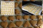 разложенное сырые печенья