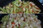 добавление брокколи и макарон