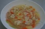 Гречневый суп с курицей и цветной капустой