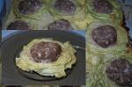 готовые гнезда из кабачковой лапши