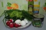 все для салата с редисом и горошком