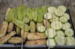 овощи на решётке для гриля