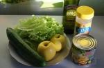 для салата с яблоком и кукурузой