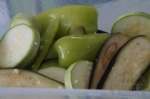 Овощи с растительным маслом и чесноком