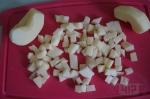 яблоко порезано на кубики