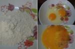 отдельно мука и яйца