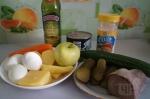 для салата с языком и яблоком