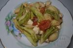 готовые макароны с индейкой и брокколи