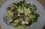 салат с огурцом и языком