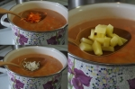 морковь, рис и картофель в суп