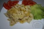 готовая запеканка с овсяным молоком и макаронами