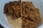 смешивание печенья и сухофруктов