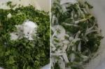 смешивание петрушки и лука