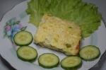 готовая запеканка с рисом и кабачком
