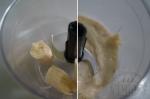 измельчение бананов в блендере