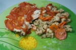 готовая индейка с томатом и цветной капустой
