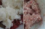 фарш с отваренным рисом